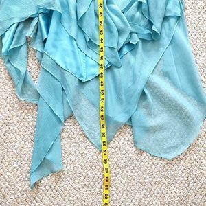 BCBGMaxAzria Dresses - BCBGMaxAzria asymmetrical beaded silk dress 12